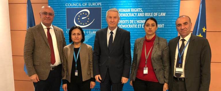 HDP Delegation meets PACE President Liliane Maury Pasquier and the Council of Europe Secretary General Thorbjørn Jagland