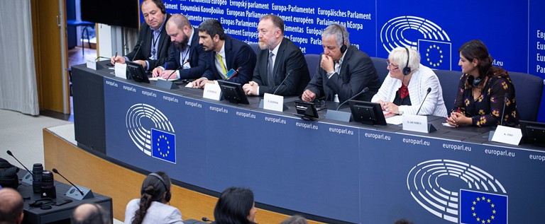 Press conference at the European parliament in Strasbourg