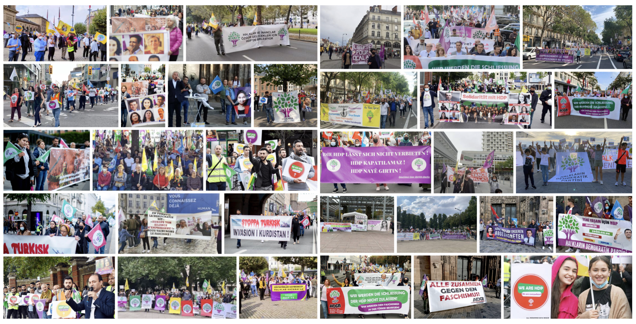 Solidarity With HDP Actions Took Place Across Europe and Canada
